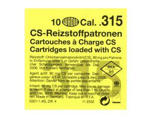CS Gas Cartridges Cal. .315 Pistol