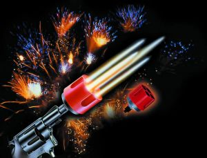 Adapter for rockets gas-signaling gun