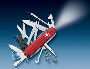 KNIFE Victorinox Mod. CyberTool Lite with built-in flashlight